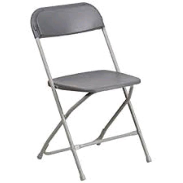 Where to find CHAIR, GREY PLASTIC FOLDING in Santa Rosa