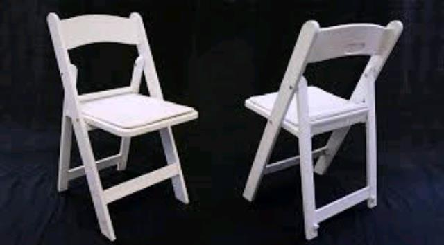 Where to find CHAIR, WHITE FOLDING PADDED in Santa Rosa